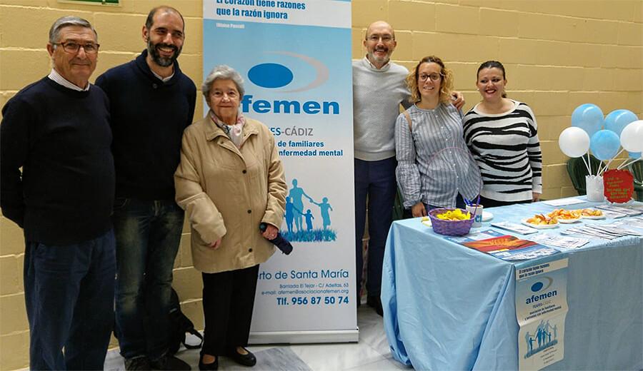 Afemen instala una mesa informativa en la feria de la Salud de Puerto Real