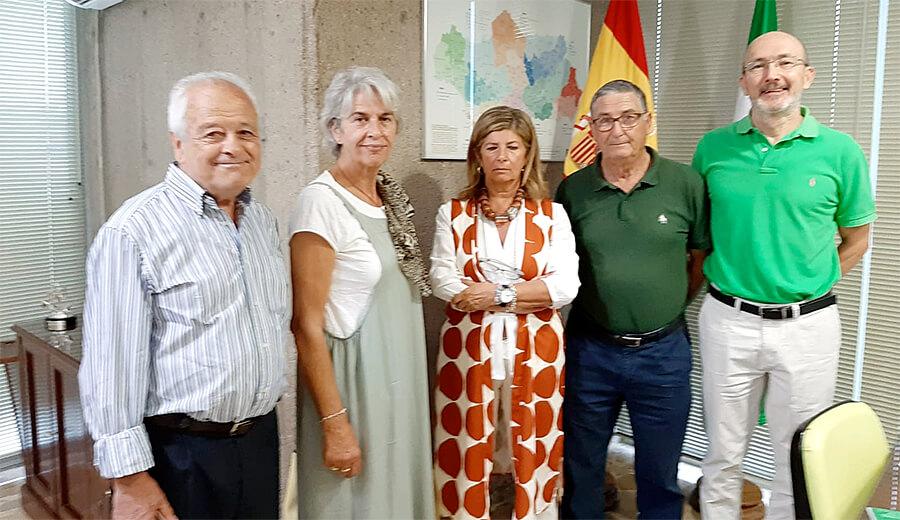 Importante reunión con la Delegada de la Consejería de Salud de la Junta de Andalucía