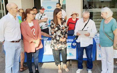 Mesas informativas de AFEMEN durante el Día Mundial de la Salud Mental, galería de fotos