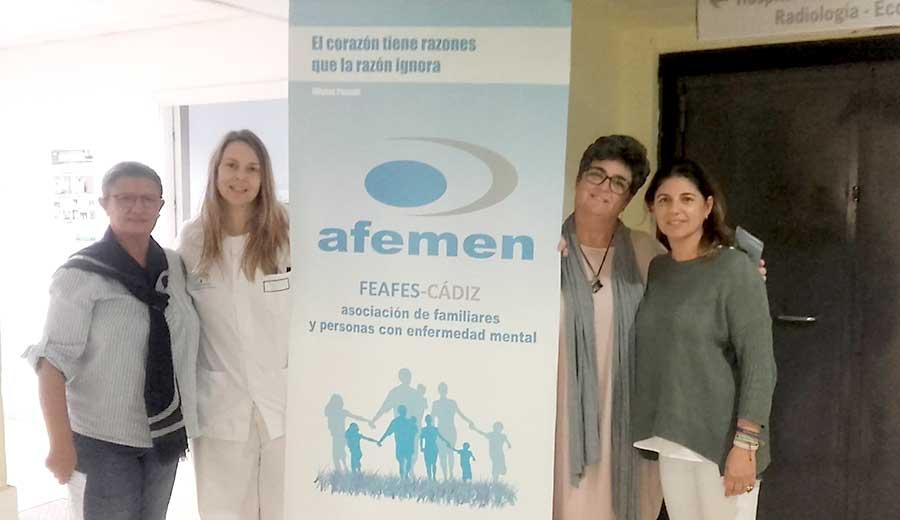 Afemen ofrece su apoyo en la unidad de Salud Mental del Hospital de Jerez