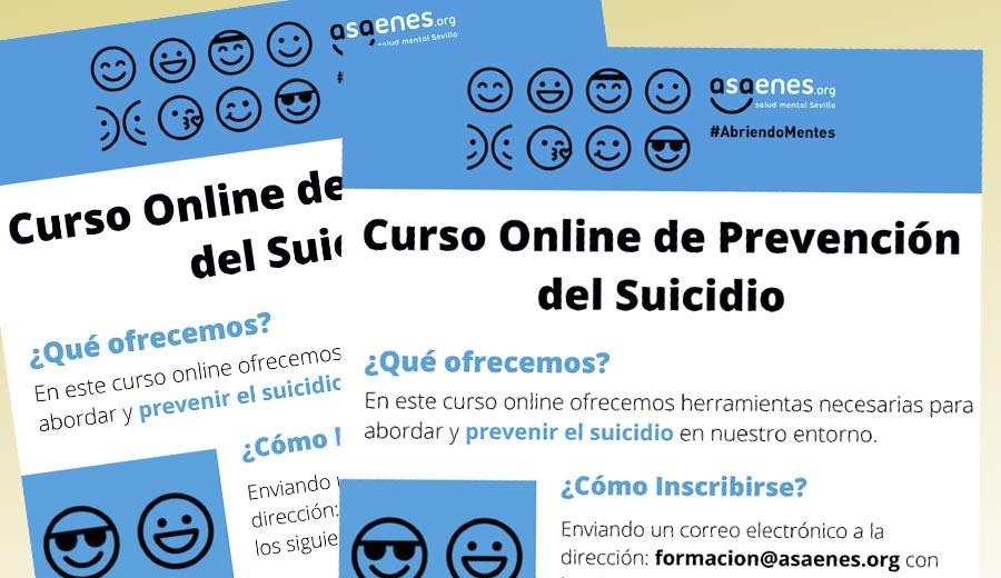 Curso online sobre prevención de suicidio