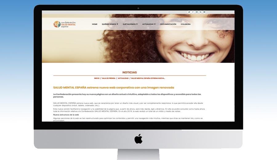SALUD MENTAL ESPAÑA estrena nueva web corporativa con una imagen renovada