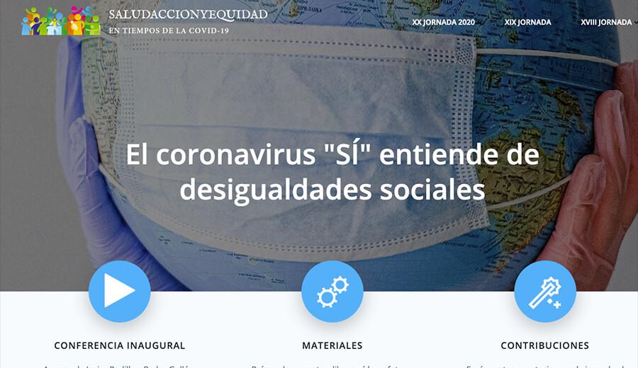 XX JORNADA DESIGUALDADES SOCIALES Y SALUD (ON LINE)