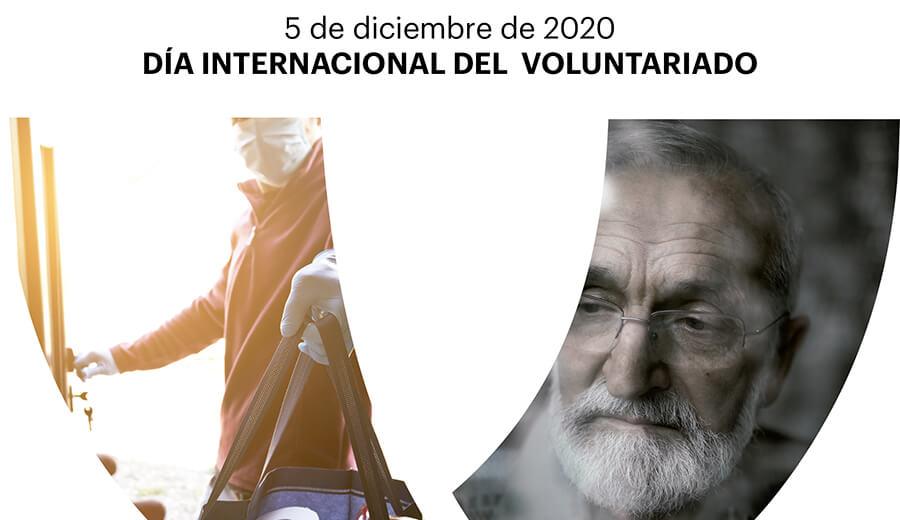 Invitación al acto día Internacional del Voluntariado Online 4 diciembre