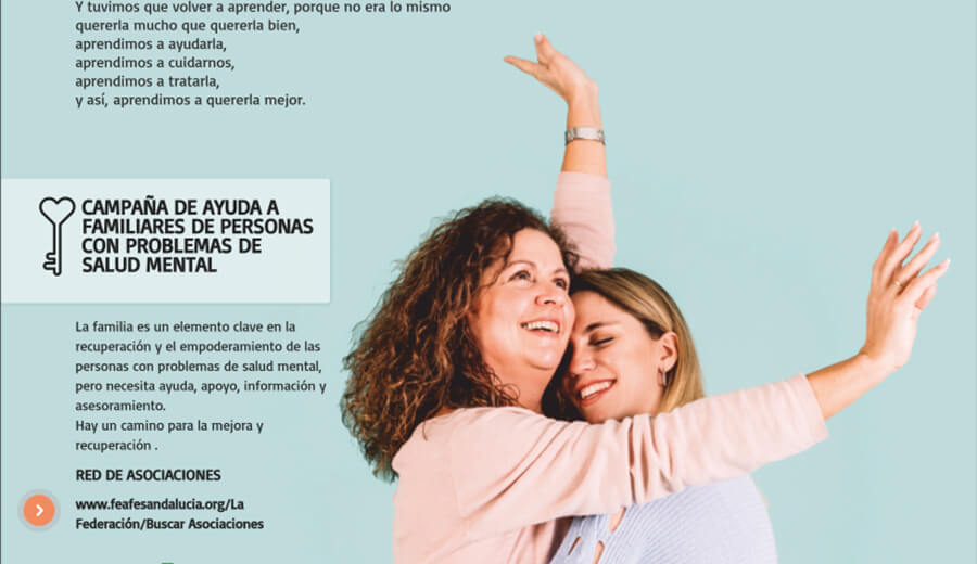 Campaña de comunicación de FEAFES ANDALUCÍA sobre la importancia del papel de las familias