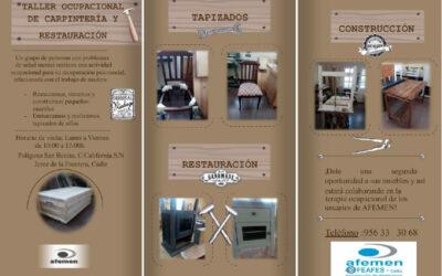 EL CORONAVIRUS NO FRENA EL TRABAJO EN NUESTROS TALLERES DE CARPINTERÍA Y RESTAURACIÓN DE MUEBLES