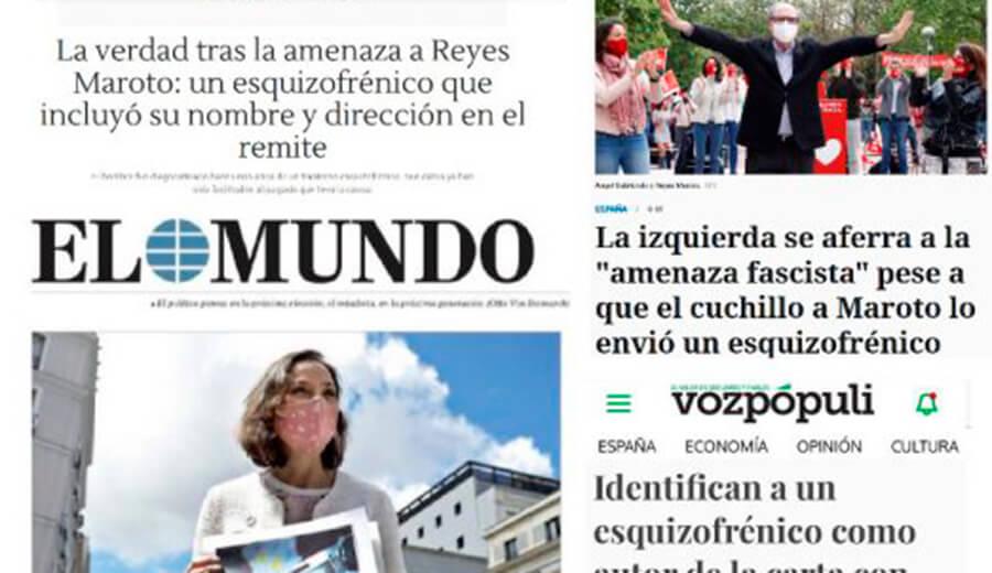 SALUD MENTAL ESPAÑA exige a los medios que rectifiquen el tratamiento de las informaciones que presuponen la esquizofrenia como causa del caso de Reyes Maroto