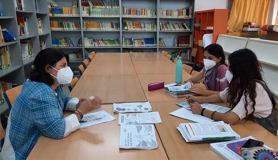 """Encuentro en el Colegio Lomopardo de Jerez, dentro de la Campaña de Sensibilización: """"Educación inclusiva. Salud mental Positiva"""""""