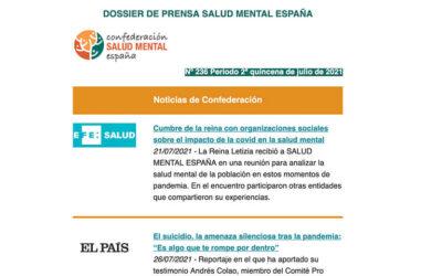 Dossier de prensa Salud Mental España 2ª Quincena Julio 2021
